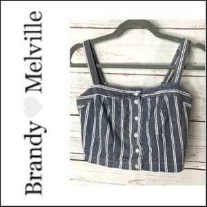Brandy Melville Astrid Cropped Tank Top